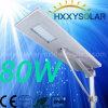 Neues integriertes Solarstraßenlaternedes Entwurfs-80W LED