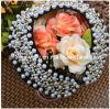 Blanco y oro artesanal Peral falso Collar Collar Collar de joyas de moda la moda de joyería Fashional Conjunto de collar (Pnc-007).