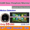 Телефон двери Peephole GSM видео-