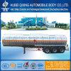 Los tres ejes de 42600L Tanque de combustible de aleación de aluminio semi remolque