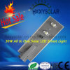 luz de calle solar integrada de 30W LED con el Ce IP65