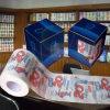 Toalla de papel modificada para requisitos particulares impresa del tejido de cuarto de baño de la novedad del rodillo de tocador