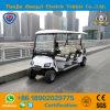 Carro de golfe elétrico projetado novo de 8 assentos para o recurso