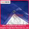 Tela incatramata pronta d'argento blu sottoposta agli UV del PE con la corda dei pp e l'occhiello dell'alluminio