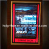 アルミニウム金ポスターフレームは映画のポスターのライトボックスの映画館のライトボックスをつけた
