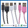 synchro 6ft plate de données de 2m chargeant le câble micro d'USB