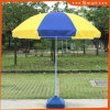 Реклама на пляже складывания зонтик, солнечным зонтом из расчета на пляже, рекламный зонтик