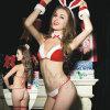 Roupa interior das mulheres na tentação do uniforme de Cosplay do coelho do Natal de Europa e de América