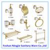 Goldene Farben-keramische Badezimmer-Zubehör