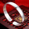 Art-Sterlingsilber-Armband mit glatter Oberfläche öffnen
