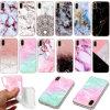 per il iPhone di iPhone X 8 giovani eleganti di TPU del reticolo della parte posteriore del coperchio di marmo Shockproof molle sottile impermeabile di caso