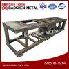 Processamento feito-à-medida do metal de soldadura automática do depósito de gasolina do suporte do frame baixo de fabricação de metal da folha