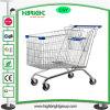 Carrello del carrello di acquisto del supermercato con la sede del bambino