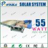 système portatif argenté d'alimentation d'énergie solaire de la Chambre 55W avec la traction Rod et la roue (PETC-FD-55W)