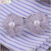 Collegamenti di polsino degli uomini dei gemelli della perla (Hlk30968)