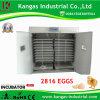 CE approuvé 98 % Taux d'éclosion des oeufs de poulet automatique incubateur pour 2816 oeufs