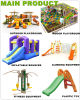 Parc d'attractions du Sud d'Afrique du Sud Aire de jeux extérieure (PY1201-19)