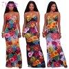 Vestido longo das senhoras da cópia Multi-Color sexy do verão (L5018)