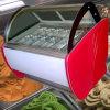 Gelato crème glacée dure congélateur d'affichage
