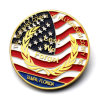 Moneta dell'aquila dell'oro di falsificazione del tungsteno placcata oro promozionale dello smalto del metallo dei prodotti dei campioni liberi