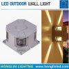 El nuevo tipo IP65 moderno impermeabiliza la lámpara de pared cuadrada lateral del shell 4 al aire libre negros LED