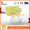 2017 Ddsafety горячая продажа трикотажные хлопок перчатки с желтой ПВХ