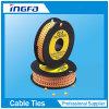 Желтые прокладки отметок кабеля круга PVC для расчистки провода