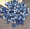 مظلمة - زرقاء لون مستديرة [فلتبك] لؤلؤة خرزة سائبة [ديي] [أبس] بلاستيكيّة تقليد نصفيّة لؤلؤة مسمار فنّ زخرفة نصفا (اللون الأزرق [تب-درك])