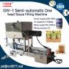 Semi-automático uma máquina de enchimento de cabeça para a calda (GW-1)