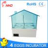 Incubadora automática del huevo de Hhd mini para la venta Yz9-4