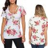 方法女性の余暇の偶然のローズの花によって印刷されるTシャツはブラウスに着せる
