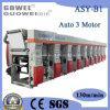 Machine de Met gemiddelde snelheid van de Druk van de Rotogravure van drie Motor