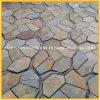 Flagstone rustico/arrugginito della pavimentazione di pietra naturale esterna dell'ardesia