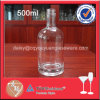 Frasco super do licor do espaço livre 500ml do vidro de sílex com parte superior do parafuso