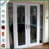 Puerta abatible PVC de PVC de huracán de seguridad con doble acristalamiento para exterior