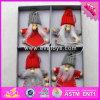 Spielt hölzerne Großhandelspuppe des Weihnachten2017 Cutie hölzerne Weihnachtspuppe-Spielwaren-mini hölzerne Weihnachtspuppe-Spielwaren W02A224