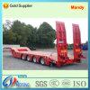 4 de Semi Vrachtwagen Traileri van het Vervoer van het Graafwerktuig van Lowbed van assen met Hydraulische Ladders