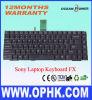 Laptop-Tastatur für SONY FX