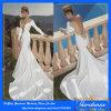 2014 de Nieuwe Diepe v-Hals van de Kleding van het Huwelijk van de Meermin van de Aankomst Sexy met Kleding van de Bruid van de Trein van de Kathedraal van de Koker van het Juweel de Volledige Ruglooze