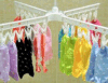 Sock plástico Drying Rack/Foldinig Plastic Clothes Hanger (24pegs)