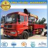 Dongfeng 4X2 6はローディングクレーントラックが付いているトラック10トンの動かす