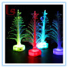 Adornos navideños 12 Cm Transparente Fibra Óptica Luz Emisora Mini Mini Árbol de Navidad