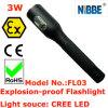 lanterna elétrica recarregável à prova de explosões do diodo emissor de luz de 3W IP68