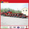 Potere-Imballare la riga rimorchio basso idraulico modulare di Gooseneck 8 della base semi