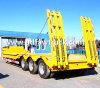 3 ejes, 13m de longitud de 60 toneladas el cuello de cisne Lowbed semi remolque para venta