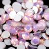 De roze Vlakke Rug van het Bergkristal van het Kristal Strass van de Kleur Oppal Ss10 Machinaal gesneden (fB-Ss10 roze opaal)