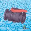 Unión PVC doble válvula de bola con brida