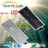 IP65 impermeable 10W todo en una luz de calle solar del LED