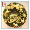 Decoración de puerta de Navidad colgante 40-60cm corona con Feliz Navidad Letra Guirnalda de Navidad
