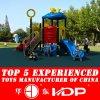 2017熱く安いプラスチック運動場は滑らせる子供(HD14-080D)のための装置を